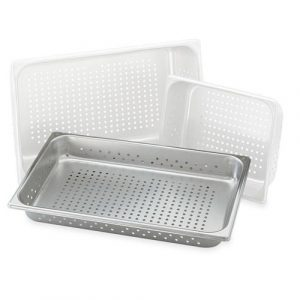 SS tray with hole for steaming cart